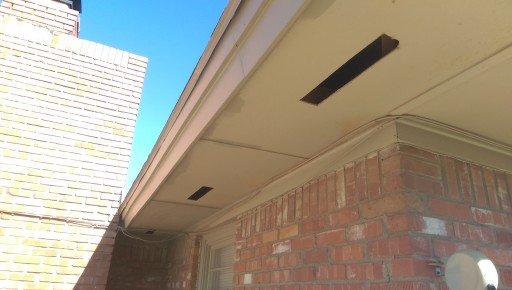 Finished Soffit Vent Cuts