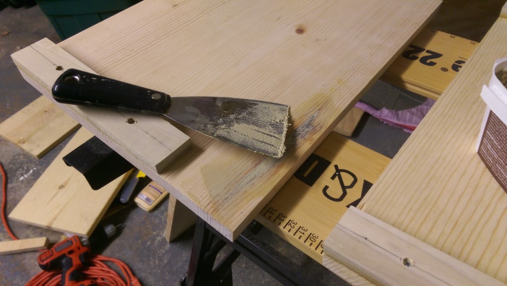 Applying Wood Filler with Putty Knife