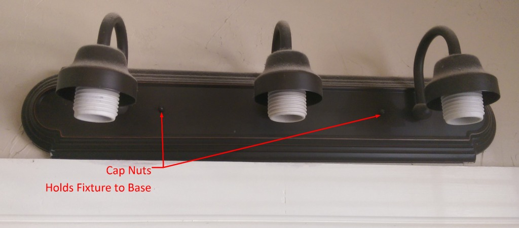 Light Fixture with Globes Removed