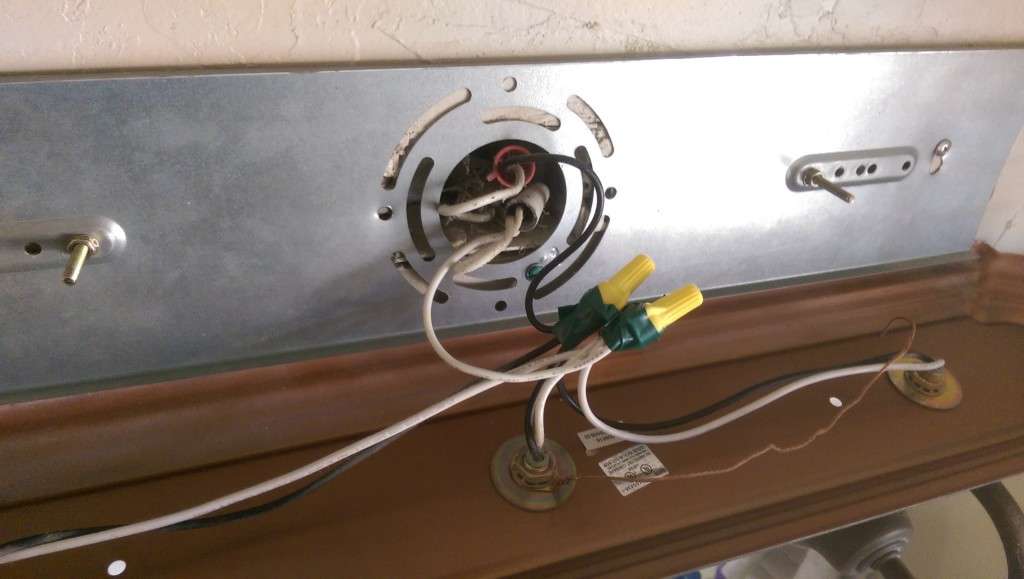 Light Fixture Re-wired