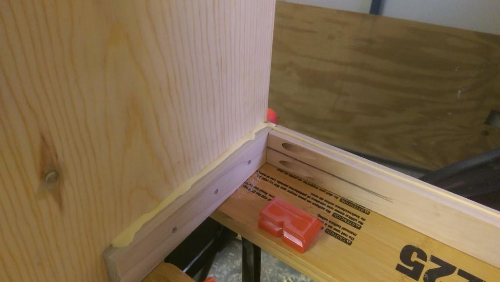 Gluing Bottom Shelf
