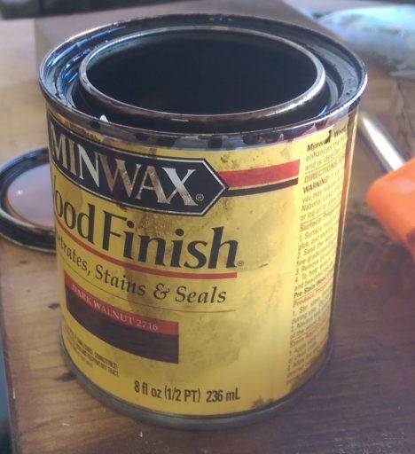 Minwax Dark Walnut Stain