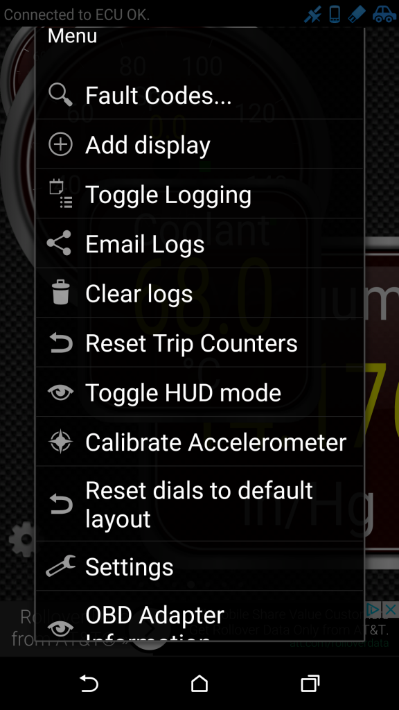 "7. Open the Menu, Select ""Show Fault Codes"""