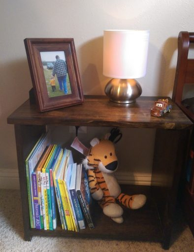 Finished Toddler Night Stand Front View