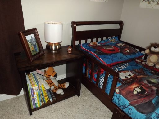 Finished Toddler Night Stand Next to Toddler Bed