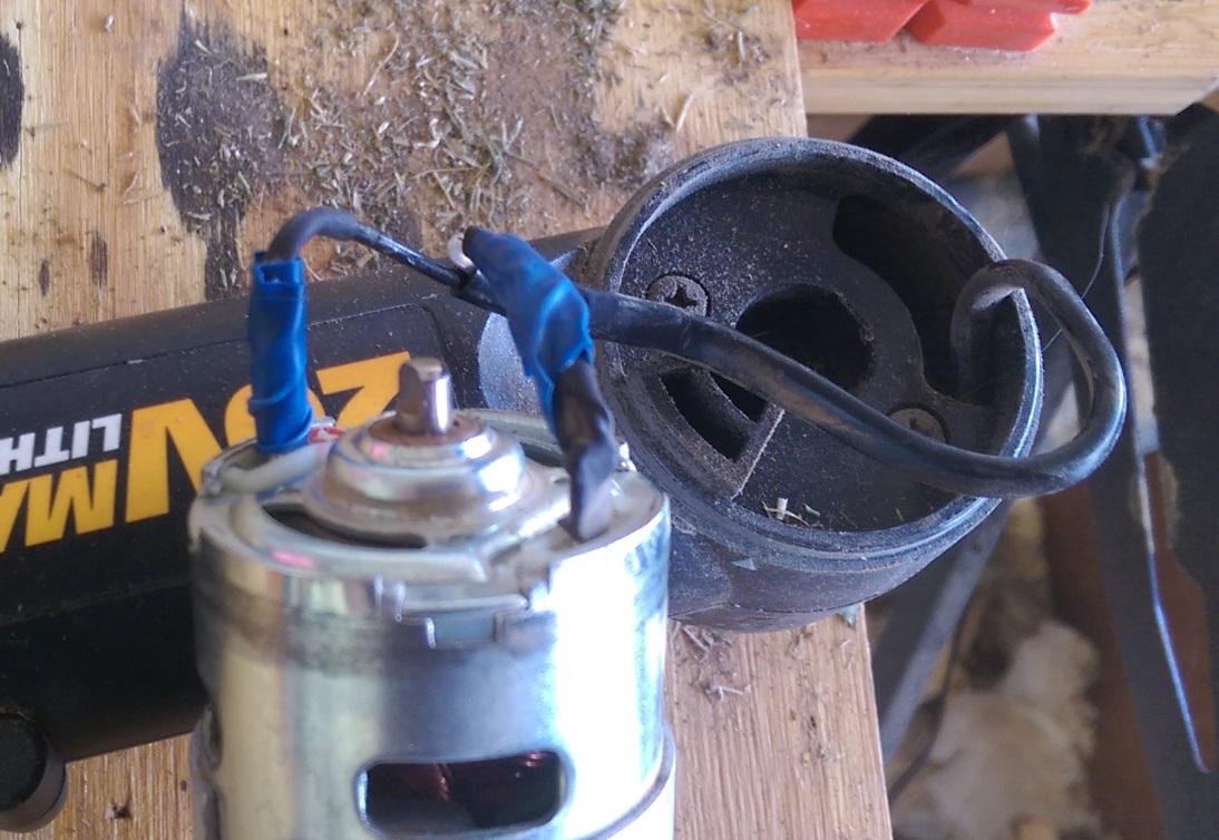 Diy repair worx string trimmer homediygeek for Diy electric motor repair