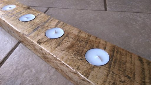 Finished Un-stained Candle Holder