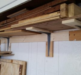 Garage Wood Storage Shelf Finished