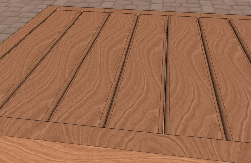 Cedar Patio Table Top Render