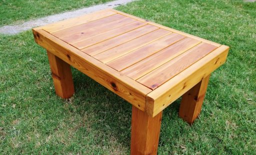 Cedar Patio Table Completed