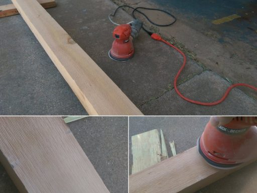 Sanding Patio Table Legs Smooth