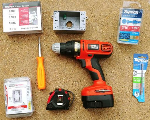 Exterior Outlet Tools and Materials