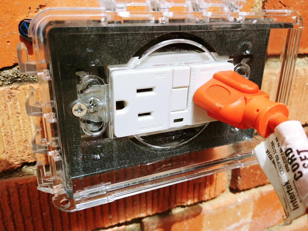 Outstanding Add An Exterior Outlet On A Brick House Homediygeek Wiring Database Wedabyuccorg