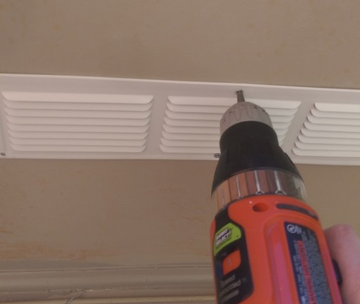 Screwing in Soffit Vents