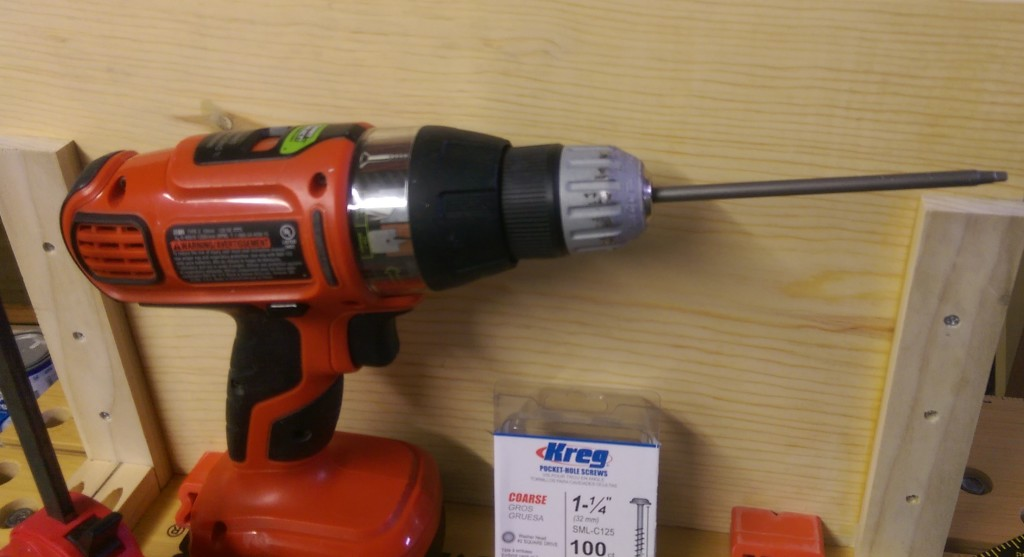 Drill with Kreg Square Head Driver