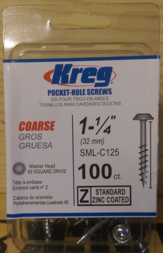 Kreg Coarse 1.25 in. Pocket Hole Screws