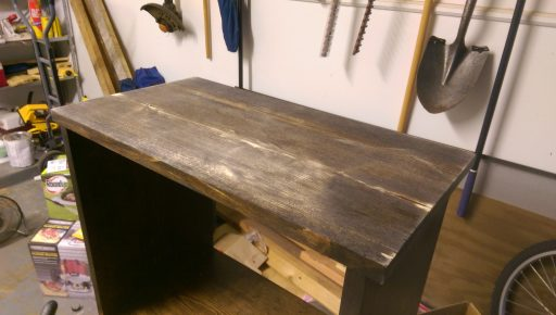 Night Stand with Messed Up Top After Sanding