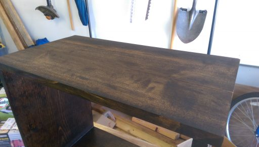 Top of Night Stand with New Stain