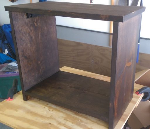 Night Stand After Stain Dried
