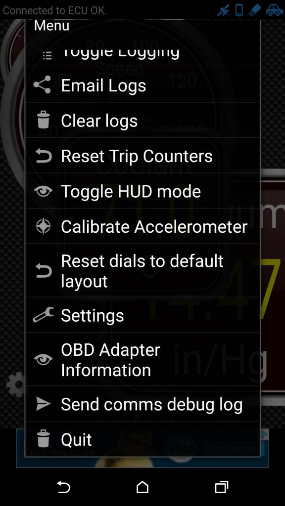 13. Open Menu and Quit App