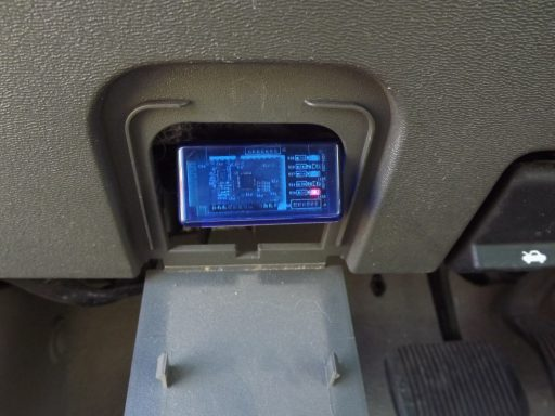 Bluetooth OBDII Reader Plugged In