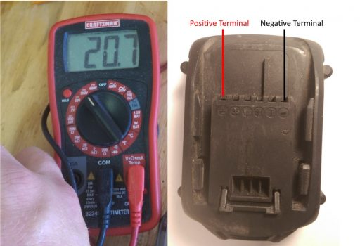 Check Lithium Battery Voltage with Multimeter