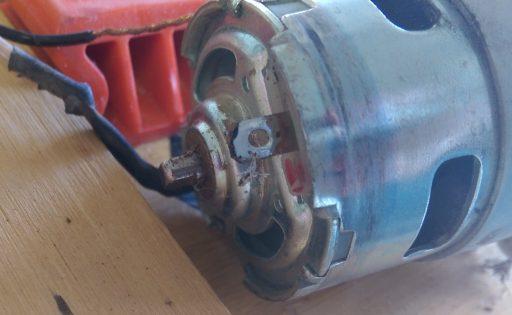 Battery String Timmer Motor Ready for Soldering