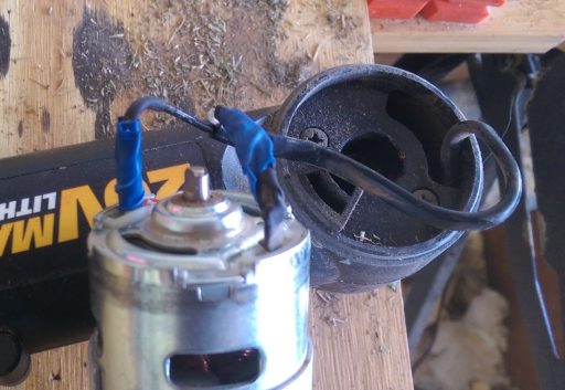 Battery String Trimmer Motor Terminals Repaired