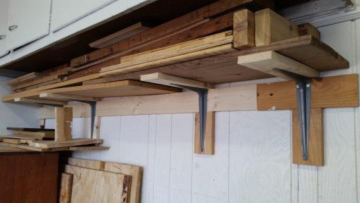 Garage Wood Storage Shelf Finished
