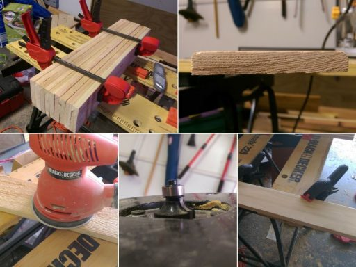 Forming the Patio Table Top Slats