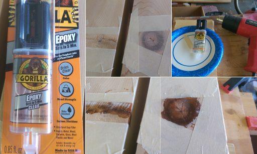 Stabilize Wood Knot with Epoxy