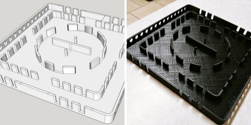 Hex Bug Pen Design Versus Print