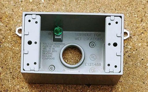 Exterior Outlet Box Closeup
