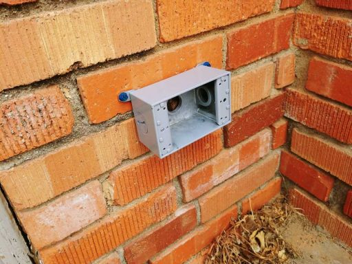 Exterior Outlet: Box Installed on Brick