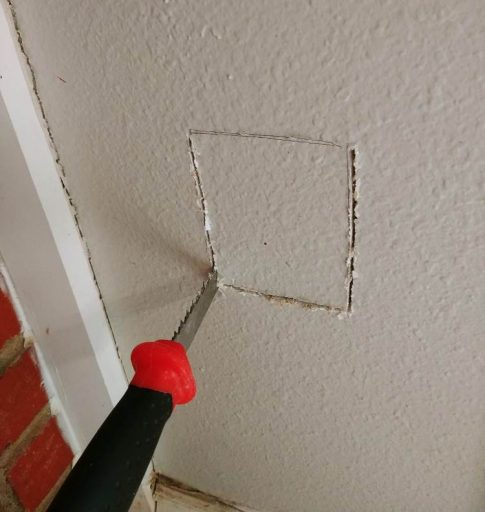 Exterior Outlet: Cutting Drywall for Cable Installation