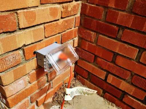 Exterior Outlet on Brick Completed