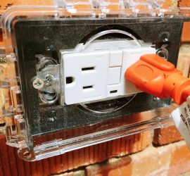 Exterior Outlet on Brick Home